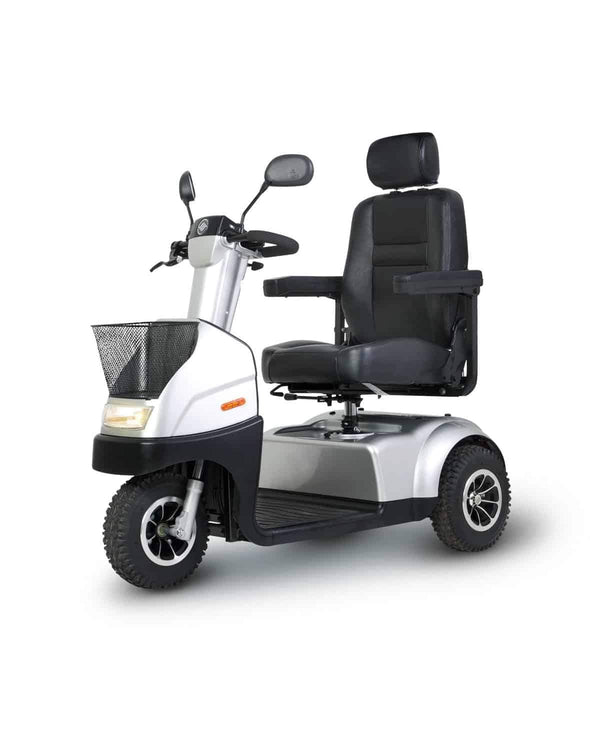 Afikim Afiscooter C 3-Wheel Mobility Scooters - 360 Swivel Seat Silver
