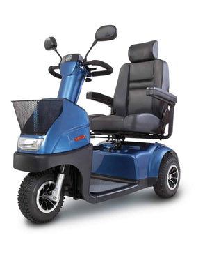 Afikim Afiscooter C 3-Wheel Mobility Scooters - 360 Swivel Seat Blue