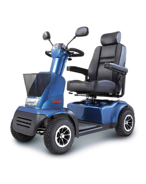 Afikim Afiscooter C 4-Wheel Mobility Scooters - 360 Swivel Seat blue