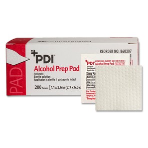 PDI Medium 70% Isopropyl Alcohol Prep Pads - Individually Wrapped box of 200 - Senior.com Alcohol Wipes