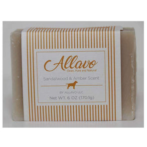 Allavo All Natural Pet Soap Bar - Sandalwood and Amber Scent - Senior.com Pet Soaps & Shampoos