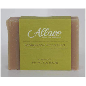 Allavo All Natural Bar Soap - Sandalwood and Amber Scent - Senior.com Bar Soap