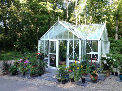 Exaco White  Royal Antique Orangerie Greenhouse - 185 sq ft - Senior.com Greenhouses