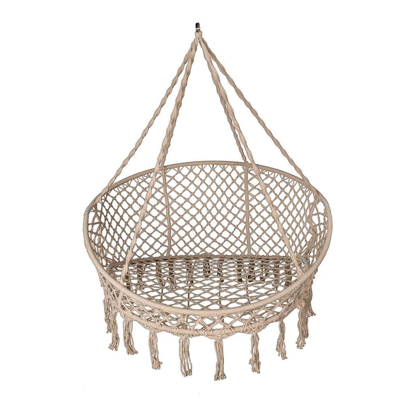 Bliss Macramé Hanging 2 Person Hammock Chair with Pillows - Senior.com Hanging Chairs