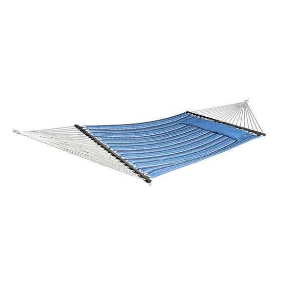 Bliss 2-Person Quilted Reversible Olefin Hammock w/ Pillow - Senior.com Hammocks