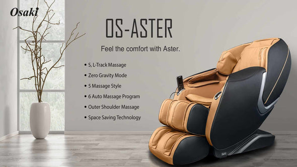 Osaki OS-Aster Modern Luxury Massage Chair with Zero Gravity Recline & 5 Massage Styles - Senior.com Massage Chairs
