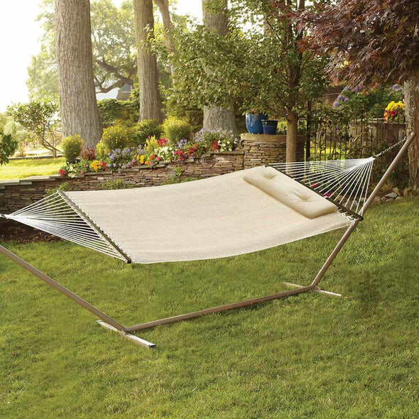 "Bliss 55""W Woven Hammock with Pillow-1"