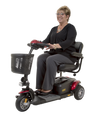 Golden Tech Buzzaround XL 3-Wheel Travel Scooter-Red - Senior.com Scooters