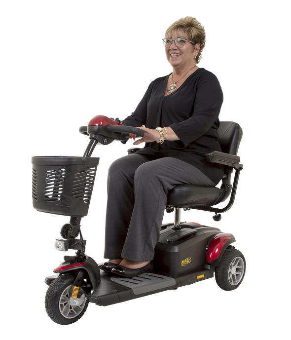Golden Tech Buzzaround LT 3-Wheel Power Scooter-Red - Senior.com Scooters