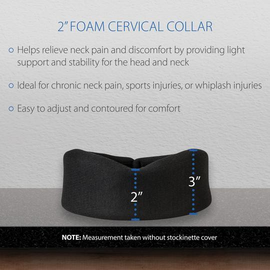 "Core Products Foam Cervical Collar - Universal 3.5"" - Senior.com Neck Support"