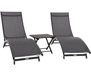 Vivere Coral Springs Lounger Outdoor Furniture 3 Piece Sets