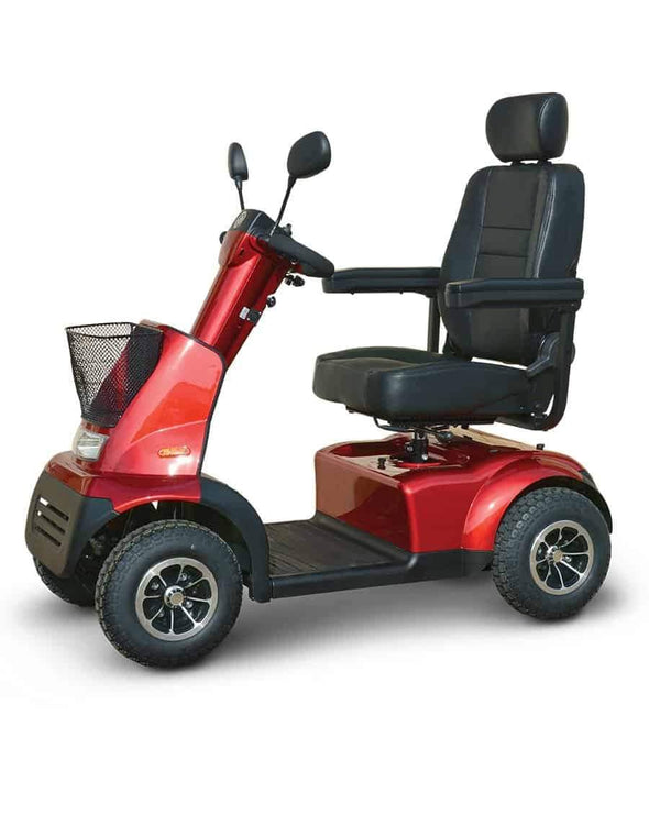 Afikim Afiscooter C 4-Wheel Mobility Scooters - 360 Swivel Seat red