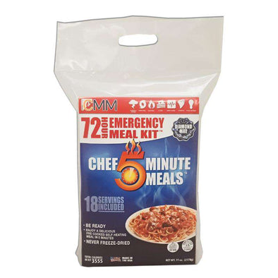 Chef 5 Minute Meal - 72 Hour Meal Kit -DIAMOND MRE Meal Kit - Senior.com Emergency Meals