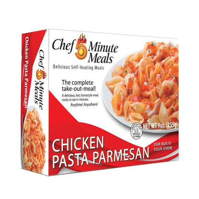 Chef 5 Minute Meals Self-Heating Boxed Meal Kit - Chicken Pasta Parmesan - Senior.com Emergency Meals