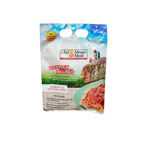 Chef 5 Minute Self-Heating Backpack Meal - Spaghetti & Meatballs - Senior.com Emergency Meals