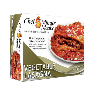 Chef 5 Minute Meals Self-Heating Boxed Meal Kit - Vegetable Lasagna