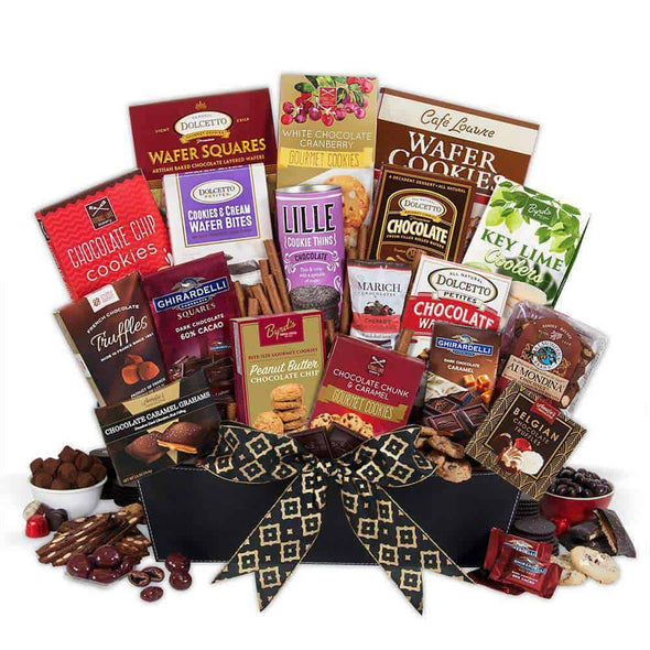 Gourmet Gift Baskets Christmas Chocolates Gift Basket - Deluxe
