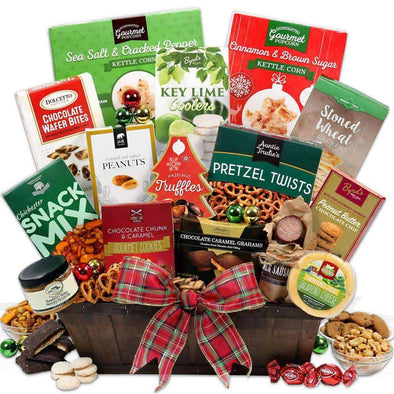 Gourmet Gift Baskets Christmas Gift Basket - Deluxe