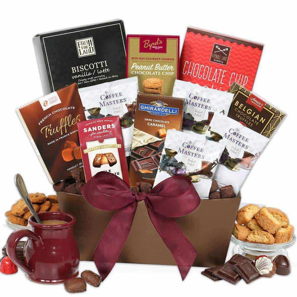 Gourmet Gift Baskets Coffee and Chocolates Gift Basket Classic - Senior.com Gift Baskets