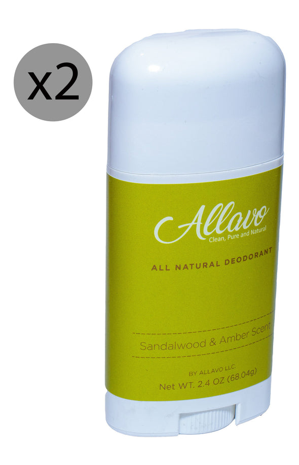 Allavo All Natural Deodorant - Sandalwood and Amber Scent - Senior.com Deodorant