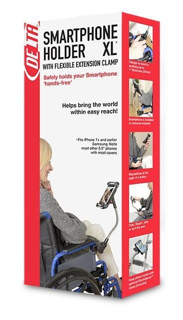 Delta Health Cell Phone Holder with Flexible Arm & Clamp - Senior.com Cell Phone Holders