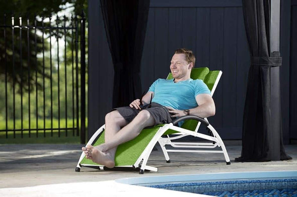 Vivere Dockside Sun Loungers - Outdoor Reclining Pool Chairs