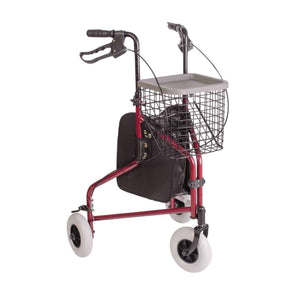 DMI Folding Lightweight Aluminum Rollators with Swiveling Front Wheels