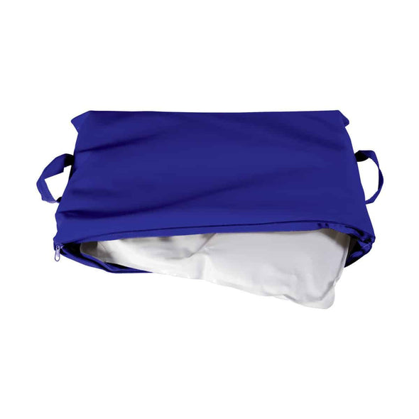 Duro-Med Flotation Cushion with Navy Poly/Cotton Cover - 100%-Gel - Senior.com Cushions