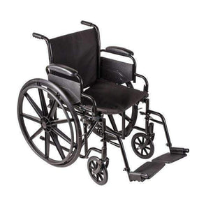 "DMI Lightweight Foldable Wheelchairs with Padded Armrests - 18"" Seat Width - Senior.com Wheelchairs"