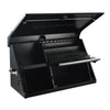 "Montezuma Steel Triangle Toolbox Storage Chest - 41"" x 18"" - Senior.com Tool Box"