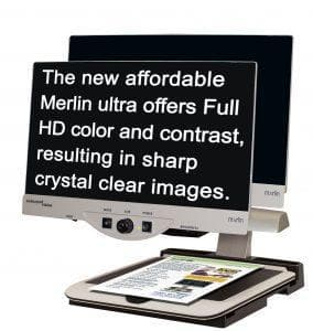 Enhanced Vision Merlin Ultra Full HD Video Magnifier - Senior.com Vision Enhancers