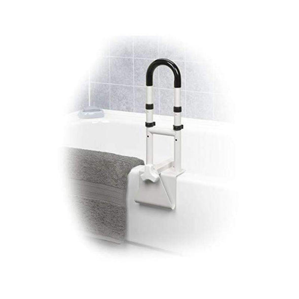 Drive Medical Adjustable Height Bathtub Grab Bar Safety Rail - Senior.com Grab Bars & Safety Rails