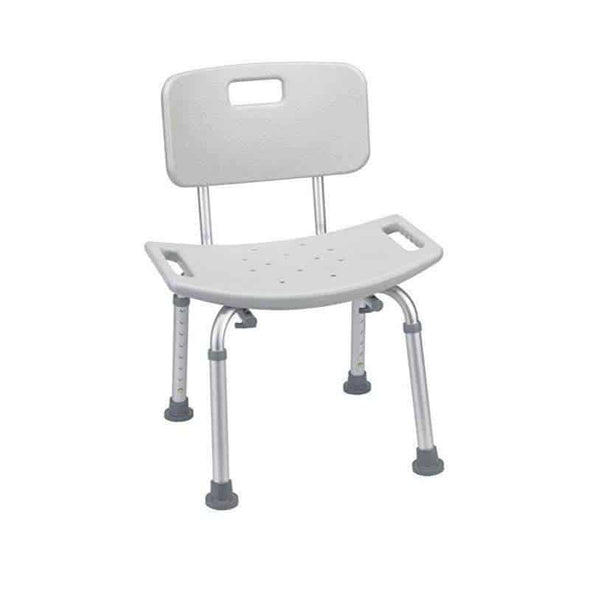 Drive Medical Bathroom Safety Shower Tub Bench Chair with Back Gray - Senior.com Bath Benches & Seats