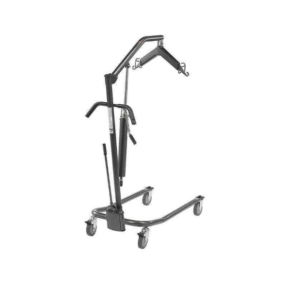 "Drive Medical Hydraulic Patient Lift with Six Point Cradle & 5"" Casters - Silver Vein - Senior.com Patient Lifts"