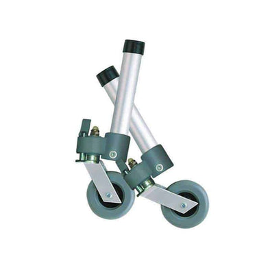 Drive Medical Locking Swivel Walker Wheels with Two Sets of Rear Glides - Senior.com Walker Parts & Accessories