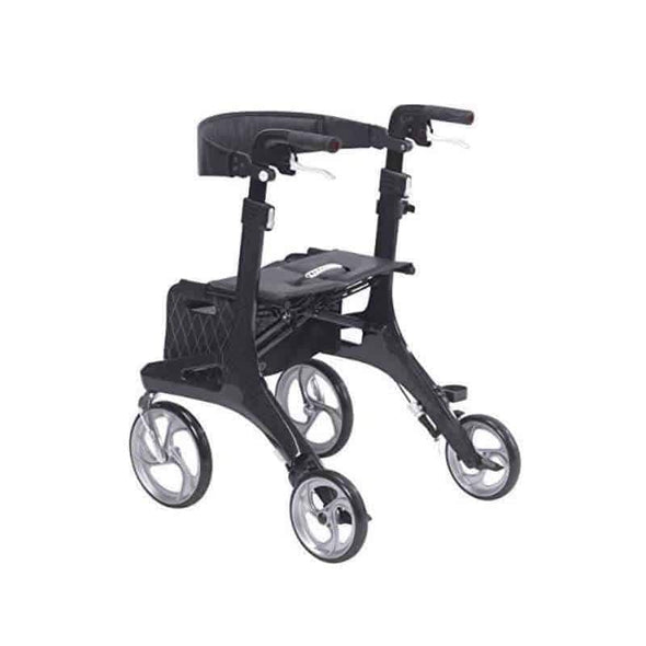 Drive Medical Nitro Elite CF Carbon Fiber Rollator Rolling Walker Black-2