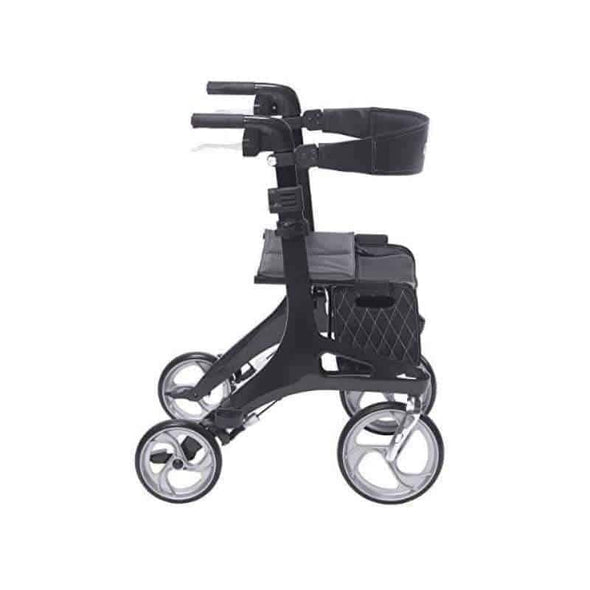 Drive Medical Nitro Elite CF Carbon Fiber Rollator Rolling Walker Black - Senior.com Rollators