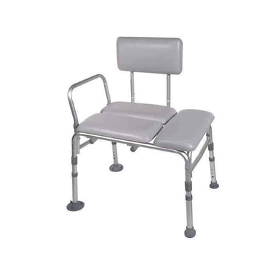 Drive Medical Padded Seat Transfer Bench - Gray - Senior.com Transfer Equipment