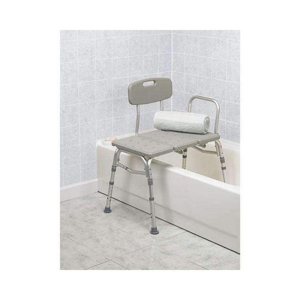 Drive Medical Three Piece Transfer Bench - Gray - Senior.com Transfer Equipment