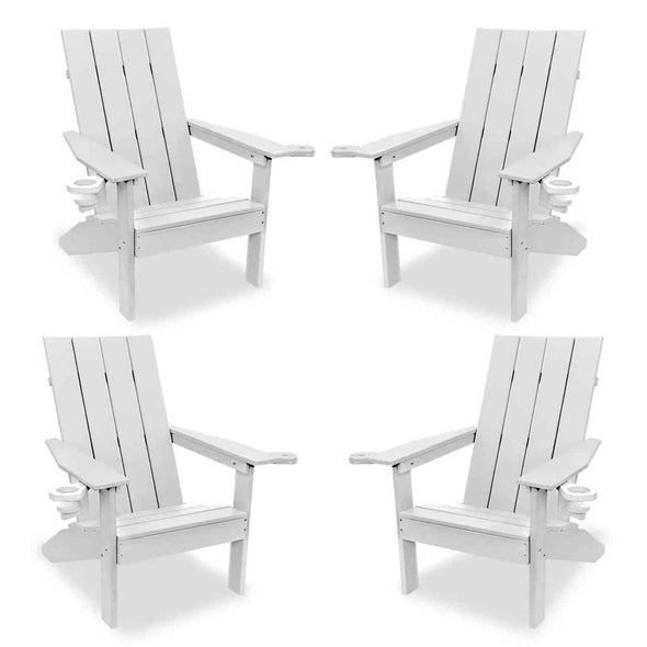 ECCB Outdoor Creek Side 4-Piece Adirondack Chair Set - Senior.com Adirondack Chairs
