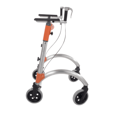 EnerStride Essential Upright Walking Aid - Rolling Walker with Hand Brakes - Senior.com walkers