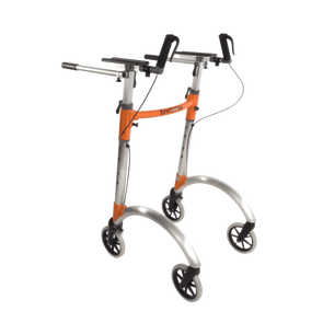 EnerStride Professional Upright Rolling Walker with Hand Brakes & Steady Bar System - Senior.com walkers