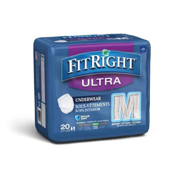 FitRight Ultra Protective Unisex Incontinence Underwear - Case of 80 - Senior.com Incontinence