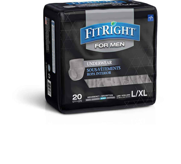 FitRight Ultra Absorbency Underwear for Men - Case of 80 - Senior.com Incontinence