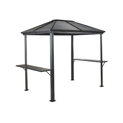 Sojag All Season Outdoor 5' x 8' Ventura Hardtop BBQ Grill Gazebo with Shelving - Senior.com Gazebo