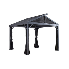Sojag Sanibel II Hardtop Gazebo Outdoor Sun Shelter with Mosquito Netting - Senior.com Gazebo