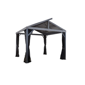 Sojag South Beach II Hardtop Gazebo Outdoor Sun Shelter with Mosquito Netting - 12' x 12' - Senior.com Gazebo