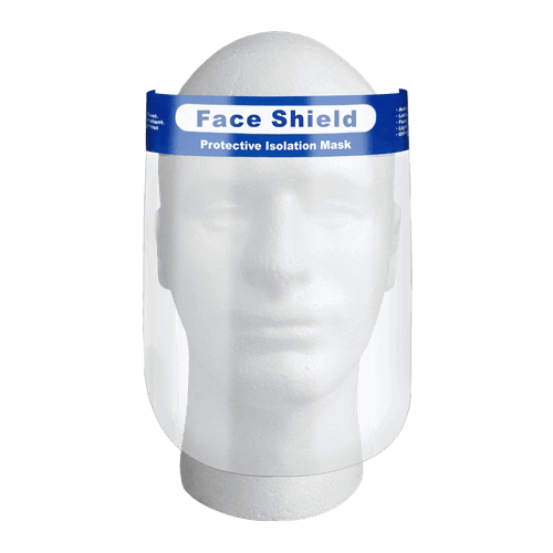 Clear Anti-Fog Reusable Face Shield with Elastic Headband - Box of 10 - Senior.com Face Shields
