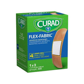 "CURAD Fabric Adhesive Bandages-1""X3"", STRL, LF box of 100"