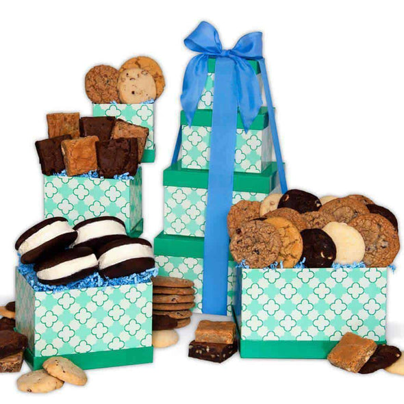 Gourmet Gift Baskets From The Bakery Gift Tower - Senior.com Gift Baskets